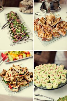 pinterest baby party ideas | Summer Garden Party Finger Food Party Bridal Baby Shower -Appetizers