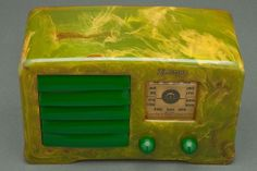 "Green Catalin 1938 Emerson AX-235 ""Little Miracle"" Art Deco Radio"