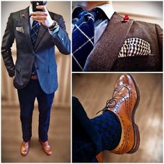 Contrast & texture...done to perfection, blazer, suit, jacket,