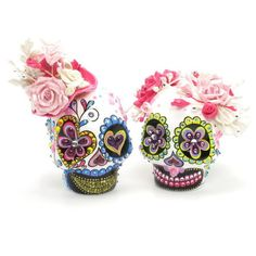 Skull Wedding Cake Topper A00149