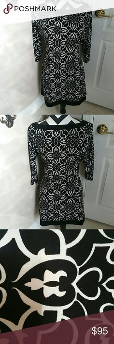 White House Black Market Dress NWOT Stretch.  3/4 length sleeves.  Gorgeous. White House Black Market Dresses