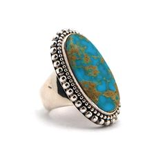 Sterling Silver and Turquoise Ring at Maverick Western Wear