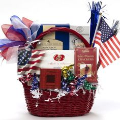 Art of Appreciation Gift Baskets America the Beautiful Patriotic Basket: Wedding gift Gourmet Gifts, Food Gifts, Gourmet Recipes, Raffle Baskets, Gift Baskets, Veterans Day Gifts, Employee Gifts, School Fundraisers, Homemade Gifts
