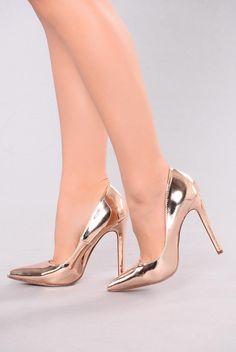 4bbe4102b Ashanti Pump - Rose Gold Sapatos Dourados, Saltos De Baile De Formatura,  Acessórios De