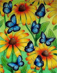 Inspirational Coloring Pages by Carla Menegusso #inspiração #coloringbooks #livrosdecolorir #jardimsecreto #secretgarden #florestaencantada #enchantedforest #reinoanimal #animalkingdom #adultcoloring #milliemarotta