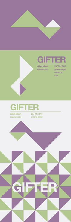 Gifter (band) identity proposal. They wanted wanted to see how a minimalistic/contemporary art style would fit them.