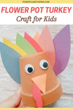 Fall and Thanksgiving are almost here! Here's a cute DIY activity that can serve as Thanksgiving decor as well! Check out the blog for more details on how to make this Flower Pot Turkey Craft for Kids! Get your arts and crafts skills on with this fun DIY craft that can serve as a family bonding activity as well! C'mon, you know this fall craft is already calling your name! #toddlercrafts #preschooleractivities #thanksgivingcrafts # Festive Crafts, Fun Diy Crafts, Glue Crafts, Easy Crafts For Kids, Cool Diy Projects, Toddler Crafts, Projects For Kids, Diy For Kids, Art Projects
