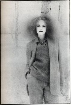 Grace Coddington by David Bailey, 1970s. Why my style? because this is basically what happens when I brush my hair... lol (and I like the clothes).