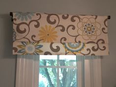 15 Minute Window Valance (and DIY coordinating accessories) Pom Pon Play Spa fabric (Diy Curtains Valance) Bathroom Window Treatments, Bathroom Windows, Bathroom Valance Ideas, Small Window Treatments, Valance Window Treatments, Kitchen Windows, Bathroom Ideas, Kitchen Window Valances, Kitchen Curtains