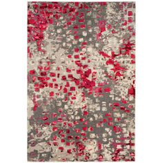 Monaco Gray/Fuchsia (Gray/Pink) 6 ft. 7 in. x 9 ft. 2 in. Area Rug