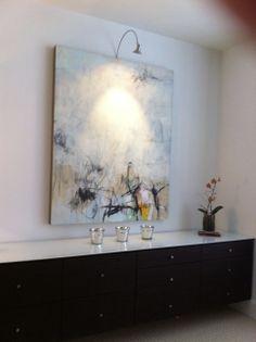 Jason Craighead painting on panel; private installation