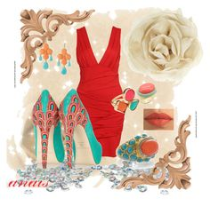 glamour anais by anaisfashion on Polyvore featuring polyvore, fashion, style, Forever 21, Brian Atwood, Zara, Kenneth Jay Lane, KG Kurt Geiger, Pieces, Fantasy Jewelry Box, Betsey Johnson and clothing