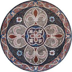 MD083 Marble Mosaic Medallion Tile