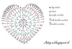 https://flic.kr/p/qMzVuh | Heartcharts - crochet heart chart pattern