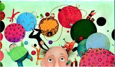 Hermosa ilustración de Sacha Poliakova para El circo mágico, un cuento de Philippe Lechermeier editado por Edelvives en forma de álbum ilustrado. Un libro lleno de magia que se enmarca en el apartado de literatura infantil y juvenil.