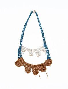 Arielle de Pinto Cascade Necklace- Teal