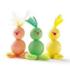 Easter Craft: Beady Babies (Easter Craft Idea)  | Spoonful- love them except the feathers. Need to find a feather replacement.
