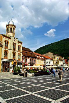 The City Hall Square - Brasov, Romania Bulgaria, Travel Around The World, Around The Worlds, Brasov Romania, Beautiful Places To Visit, Beautiful Things, Republic Of Macedonia, Visit Romania, Across The Universe