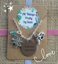 Disney inspired Lion King necklace pendant by AllThingsPrettyBySam