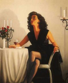 Jack Vettriano Table for One painting for sale - Jack Vettriano Table for One is handmade art reproduction; You can shop Jack Vettriano Table for One painting on canvas or frame. Jack Vettriano, The Singing Butler, Pinturas Art Deco, Estilo Gigi Hadid, Pin Up, In Vino Veritas, Edward Hopper, Limited Edition Prints, Oeuvre D'art