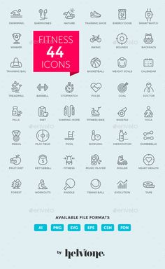 Outline Icon Set  Fitness, Sport and Healthy Lifestyle — Photoshop PSD #fitness bike #pulse • Download ➝ https://graphicriver.net/item/outline-icon-set-fitness-sport-and-healthy-lifestyle/19056920?ref=pxcr