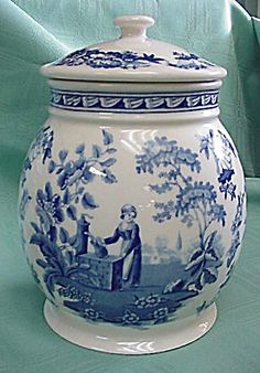 Spode Biscuit Jar