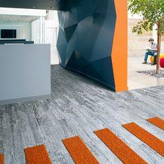 Interfacen tekstiililaatoissa sisustuksellisuus kohtaa käytännöllisyyden│Laattapiste Waiting Area, Contemporary, Modern, Entrance, Minimalist, Lounge, Flooring, Architecture, Simple