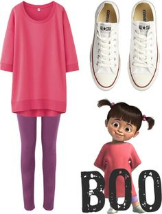 Disney fans might get a simple easy outfit for thei… homemade halloween costumes. Disney fans might get a simple easy outfit for their Halloween night, even with your Converse shoes. Sweet and cute just like BOO. Halloween Outfits, Great Halloween Costumes, Easy Costumes, Halloween Diy, Costume Ideas, Easy Disney Costumes, Disney Characters Costumes, Family Halloween, Easy Character Costumes