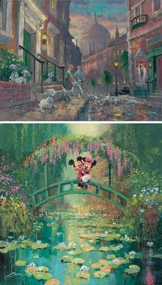 Some Disney Mickey Mouse and 101 Dalmations fine art. Brilliant
