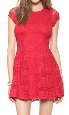 pretty #lace fit and flare dress  http://rstyle.me/n/ics5hpdpe
