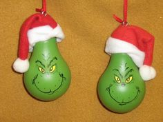 Grinch Lightbulb...cute craft idea