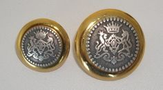Antique Silver Crest With Gold Rim - Sew Much Fabric