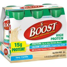Boost® High Protein Very Vanilla Complete Nutritional Drinks, 8 fl oz, 6 count