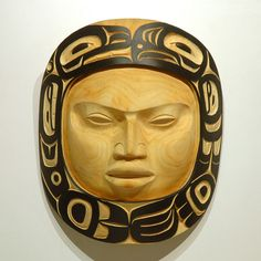 Moon Mask by Jacqueline R. McNeil, Tsimshian, Nisga'a artist (X80601)