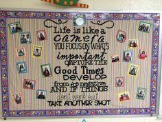 Life is Like a Camera... Inspiring bulletin board