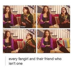This is basically the story of my life. I'm the fangirl, she's 'sane'. I'm the the nerd, she's 'popular'. Fandoms Unite, Narnia, Gossip Girl, One Direction, Sherlock, Otaku, Will Herondale, Fangirl Problems, Nerd Problems