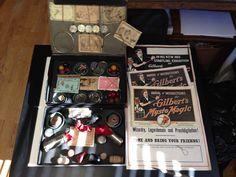 1917 #2004 Gilbert Mysto Magic Exhibition Set Magic Kit  Box ROUGH