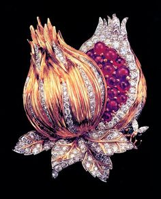a stunning Pomegranate, Diamond and Rubies Fulco Di Verdura