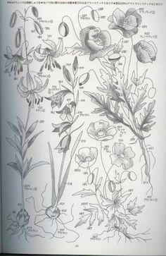 Gallery.ru / Фото #90 - Embroidery of flowers. - bird-of-heart