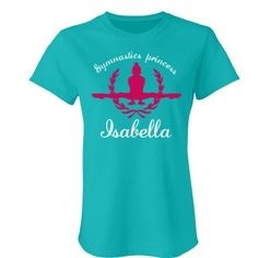 Isabella. gymnastics princess  | An absolutely lovely gymnastics t-shirt. Beautiful colours and quality is number one.