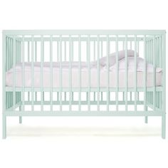 moKee Mini Cot in Mint* colour (Dusty Aqua*) â��Suitable from birth up to 3 yearsâ��Safety Certificate BS EN-716 2013â��8 position adjustable mattress base: 19.7cm, 29.3cm, 32.5cm, 35.5cm, 38.9cm, 42.1cm, 45.3cm, 48.5cmâ��Cot with removable side which can be converted into a toddler-sized bedâ��High quality solid beech woodâ��External size 124cm x 64cmâ��Mattress size 120cm x 60cmâ��Caster wheels availableâ��Available in 6 different colou...