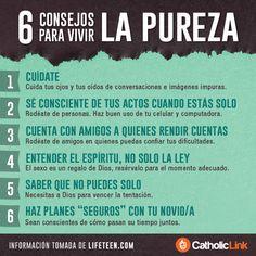 Biblioteca de Catholic-Link - Infografía: 6 consejos para vivir la pureza