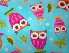 Kaufman Children Blue On a Whim Cotton Fabric Owls Owl Fabric, Cotton Fabric, Robert Kaufman, Quilts, Sewing, Children, Blankets, Projects, Blue