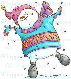 Jack Frost - Snowmen Images - Snowmen - Rubber Stamps - Shop