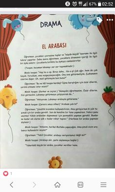 This Pin was discovered by Sev Learn Turkish, Preschool Activities, Education, Learning, Drama Drama, Dil, Slipcovers, Studying, Kindergarten Activities
