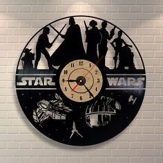 Star Wars Han Solo Leia Vader Vinyl Record Clock Home Birthday Party Wall Art #VinylEvolution #Modern