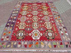 Anatolian Turkish Sardes Nomads Candle Design Kilim Rug Carpet 74 8 x 133 8 | eBay