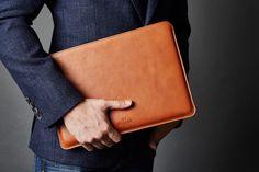 Minimalist Leather Macbook Sleeve Laptop Case and felt Cover
