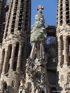 Sagrada Familia by Antonio Gaudi. Barcelona, Spain.