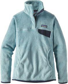 Patagonia Women's Re-Tool Snap-T Fleece Pullover Tubular Blue XL